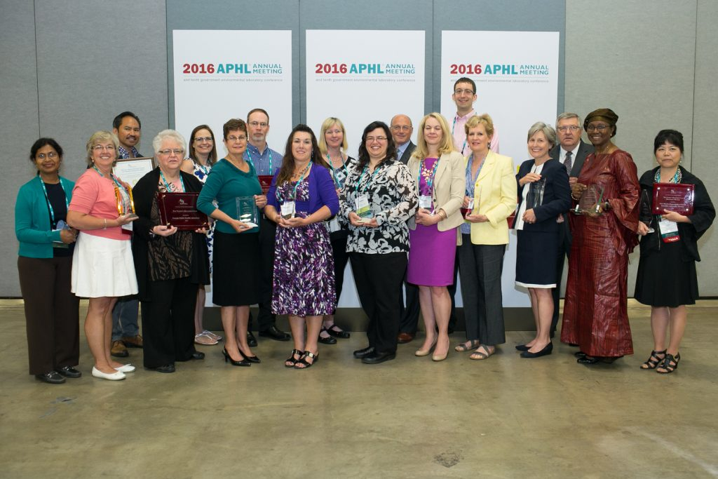 2016 APHL award winners -- congratulations to all!