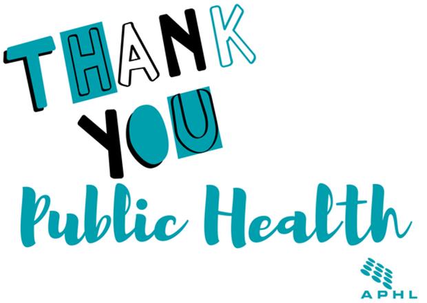 APHL says thank you