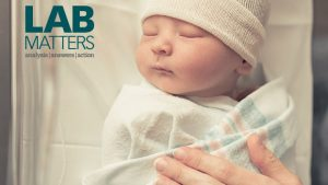 New Lab Matters cover depicts a newborn baby