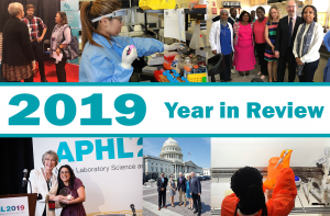 Collage of photos depicting APHL's 2019 year in review