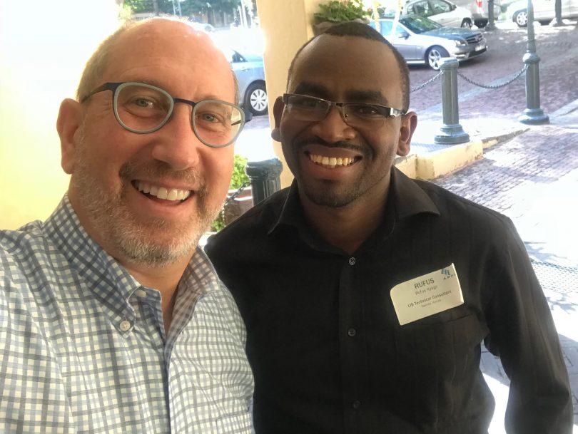 Scott Becker and Rufus Nyaga