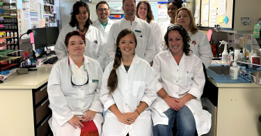 Humboldt County Public Health Laboratory team poses in the lab.