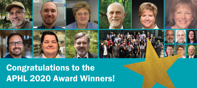 Collage of all 2020 APHL award winners