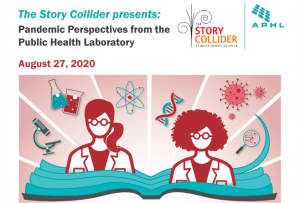Story Collider and APHL event promotional graphic.