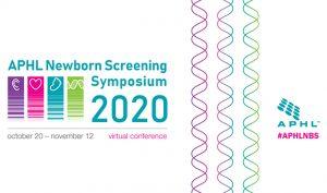 Logo for the 2020 APHL Newborn Screening Virtual Symposium