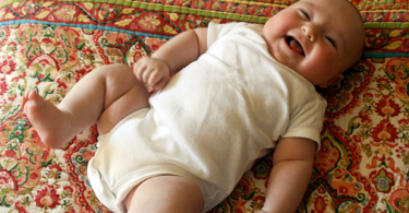 Photo of a happy baby