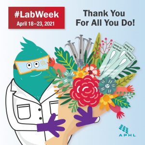 "Flat Labby says ""Thank you for all you do!"""