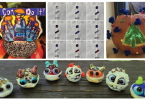 Photos of the four Microbe Masterpieces art contest winners