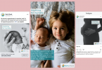 Screenshots of social media ads that were part of a campaign to reach parents of babies with rare conditions.